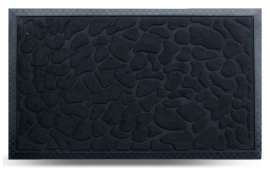 Коврик придверный MX, чёрный, 45х75 см