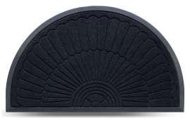 Коврик придверный MX-S, чёрный, 45х75 см
