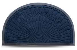 Коврик придверный MX-S, синий, 45х75 см