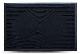 Коврик придверный MX, чёрный, 60х90 см