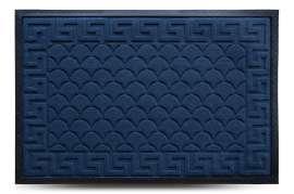 Коврик придверный MX, синий, 60х90 см