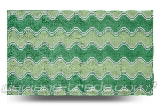 Килимок Хвиля, зелений, 70x120 см