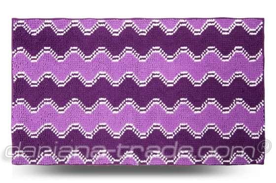 Килимок Хвиля, фіолетовий, 70x120 см