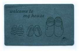 Коврик Шерсть, My House, синий, 68х120 см