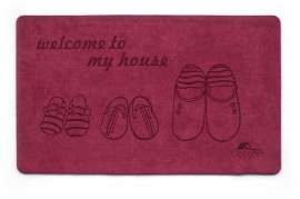 Коврик Шерсть, My House, красный, 68х120 см