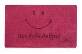 Коврик Шерсть, Smile, красный, 45х75 см