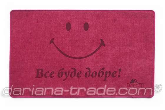 Килимок Шерсть, Smile, червоний, 45х75 см