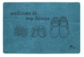 Коврик Шерсть, My House, синий, 60х90 см