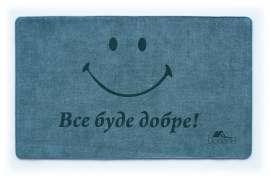 Коврик Шерсть, Smile, синий, 68х120 см