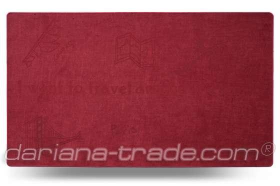 Універсальний килимок для дому Шерсть Travel червоний 68x120 см