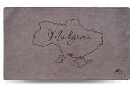 Коврик Шерсть, Ukraine, серый, 68x120 см