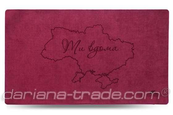 Килимок Шерсть, Ukraine, червоний, 68x120 см
